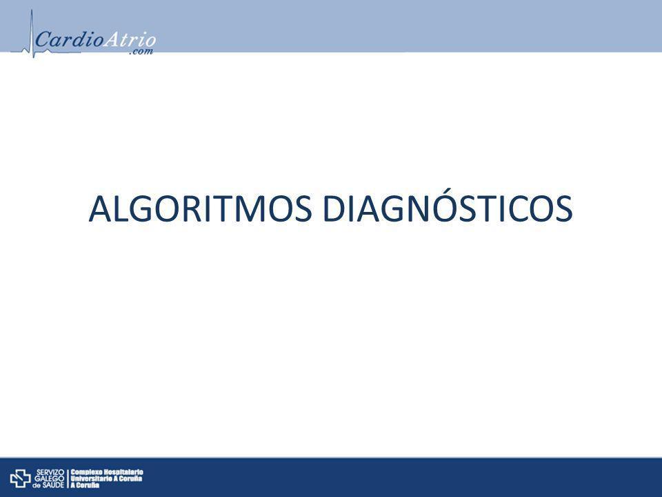 ALGORITMOS DIAGNÓSTICOS
