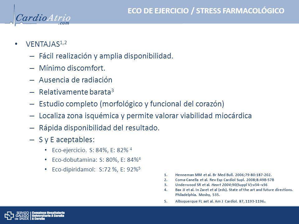 ECO DE EJERCICIO / STRESS FARMACOLÓGICO