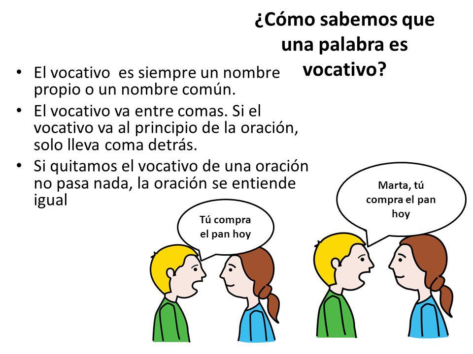 ¿Cómo sabemos que una palabra es vocativo
