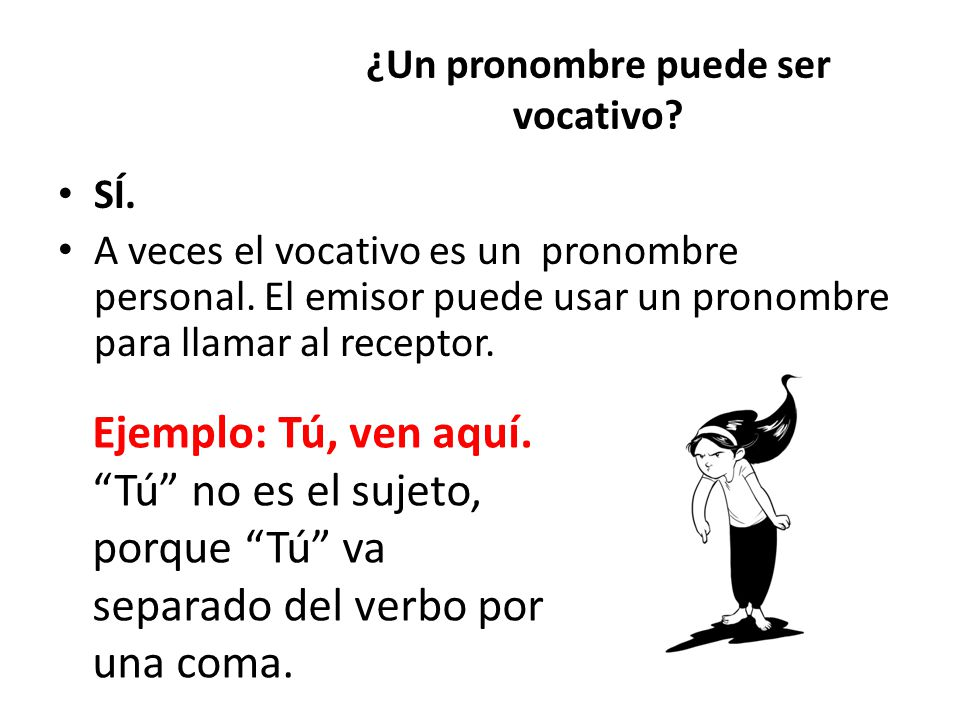 ¿Un pronombre puede ser vocativo