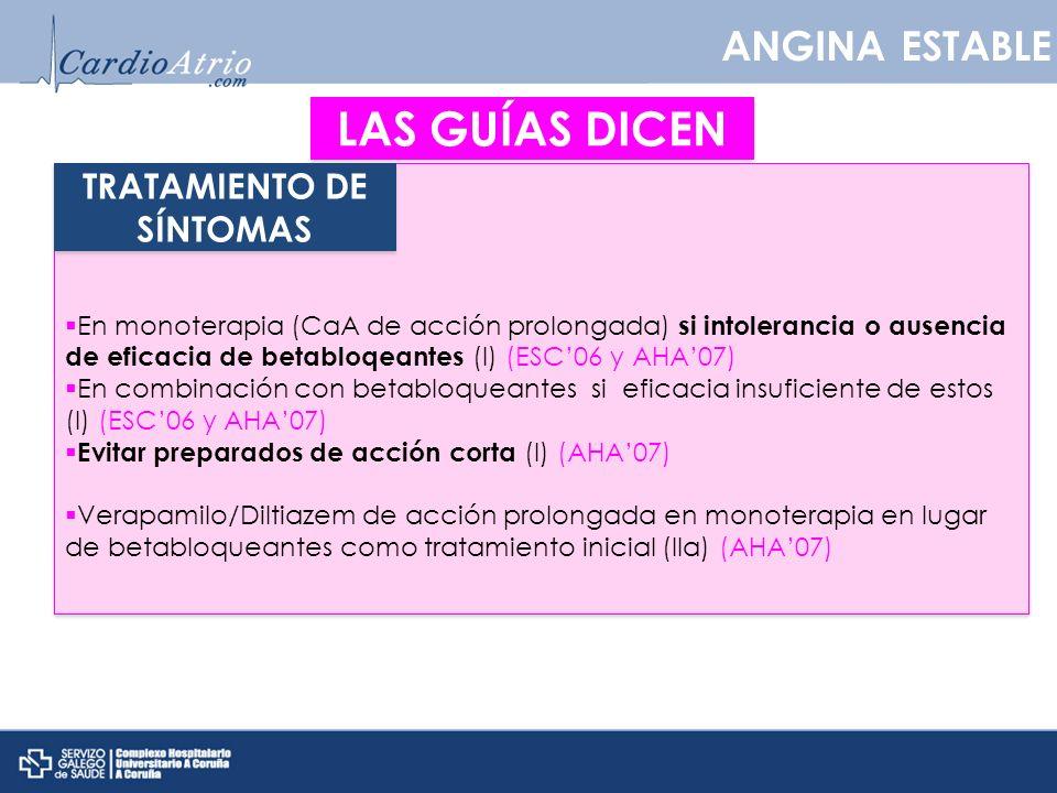 TRATAMIENTO DE SÍNTOMAS