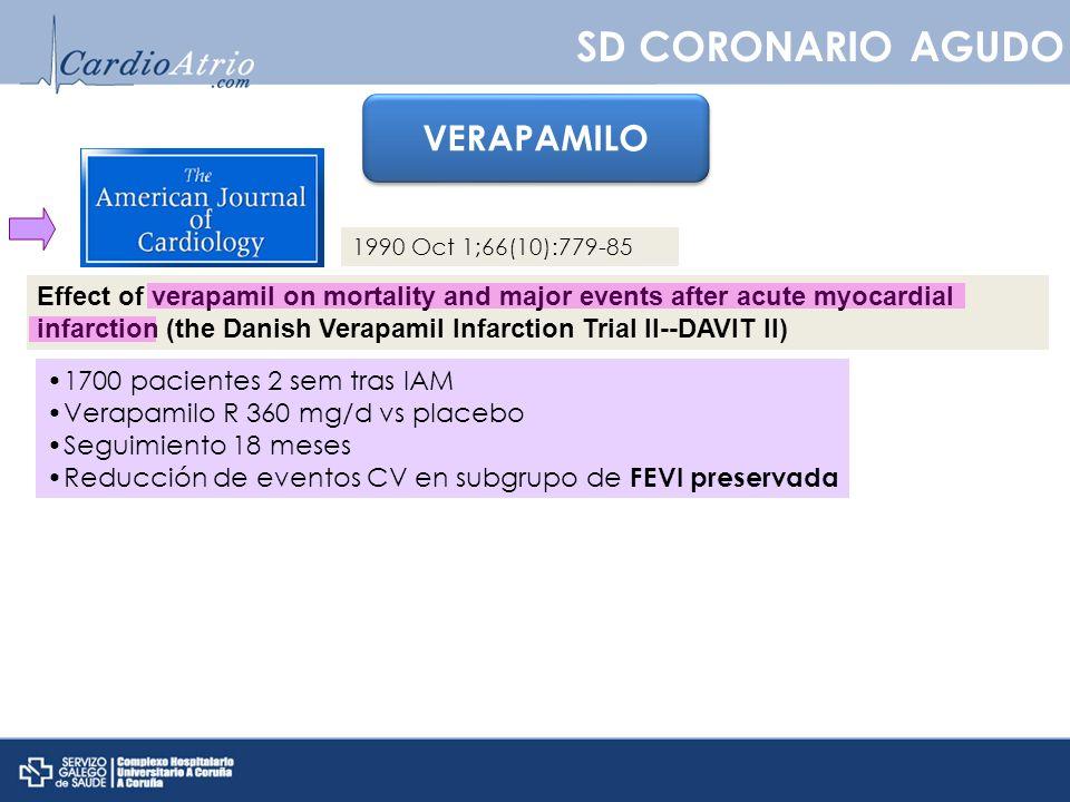 SD CORONARIO AGUDO VERAPAMILO