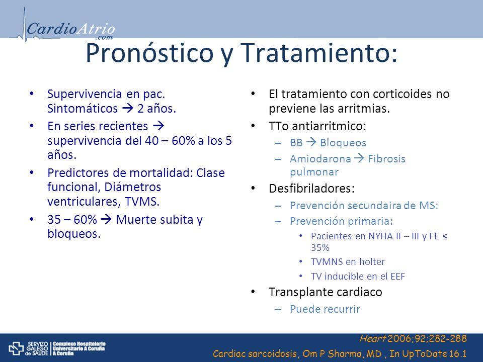 Pronóstico y Tratamiento: