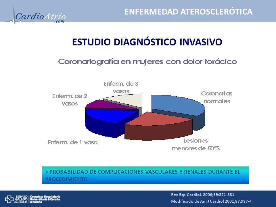 ENFERMEDAD ATEROSCLERÓTICA ESTUDIO DIAGNÓSTICO INVASIVO