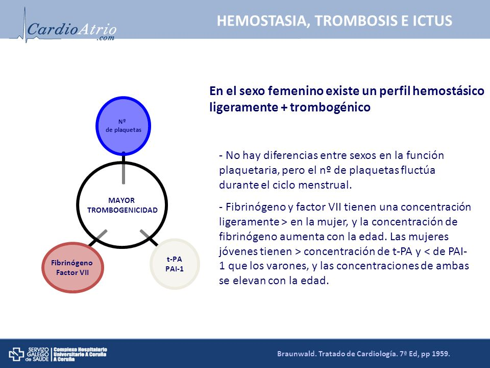 HEMOSTASIA, TROMBOSIS E ICTUS