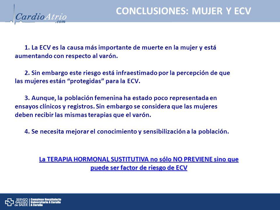 CONCLUSIONES: MUJER Y ECV