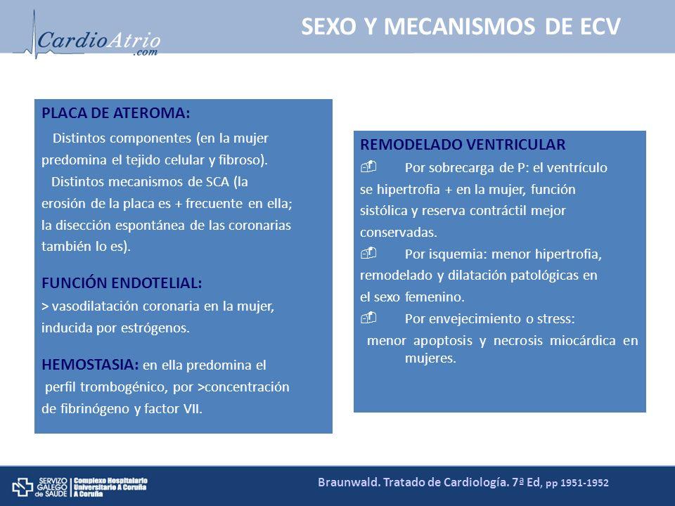 SEXO Y MECANISMOS DE ECV