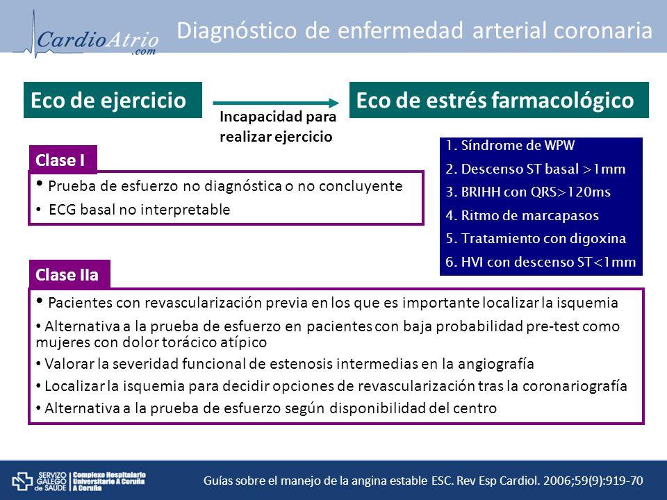 Diagnóstico de enfermedad arterial coronaria