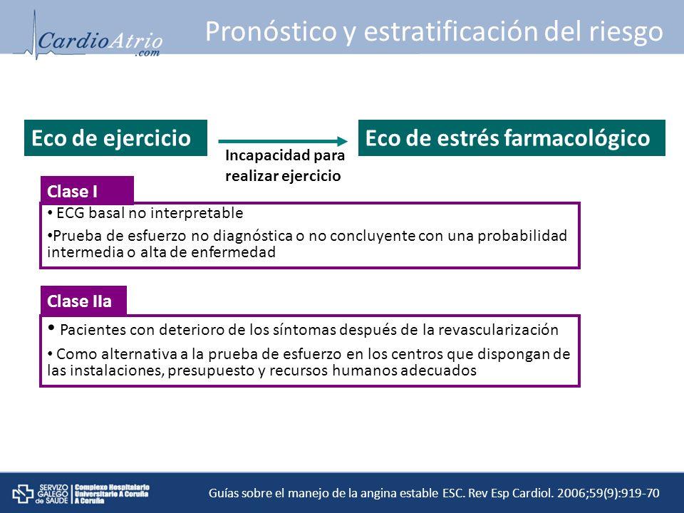 Pronóstico y estratificación del riesgo
