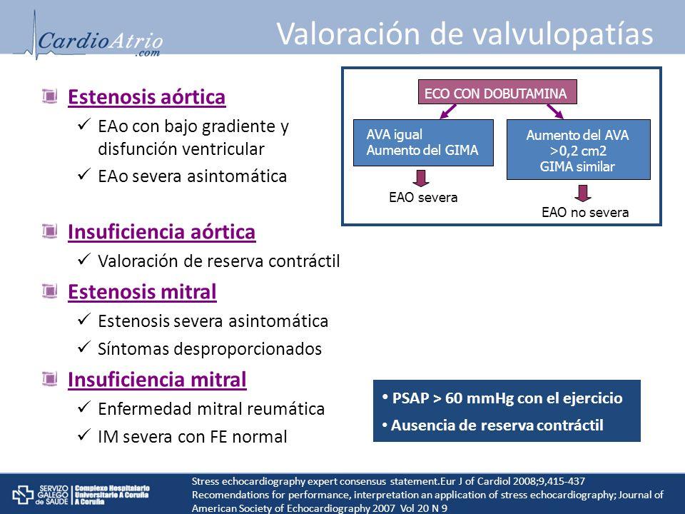Valoración de valvulopatías