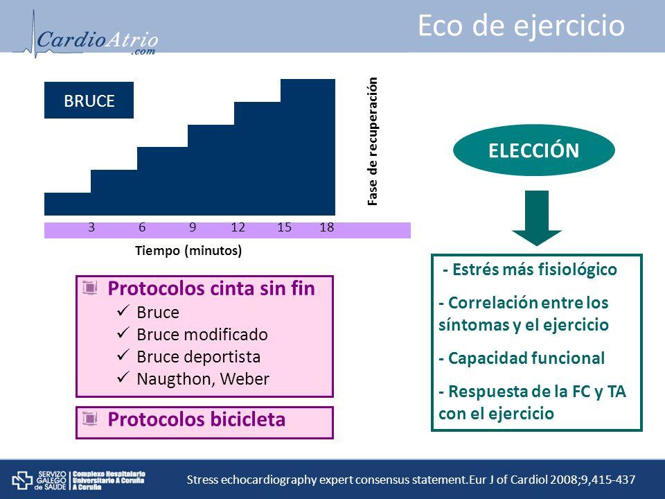 Eco de ejercicio ELECCIÓN Protocolos cinta sin fin