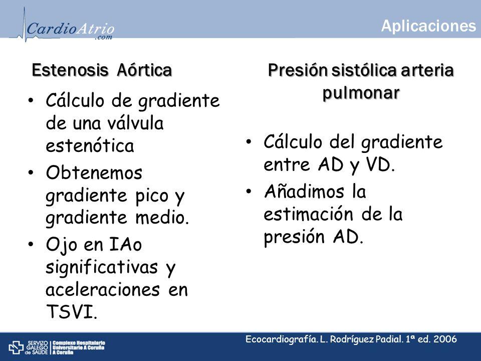 Presión sistólica arteria pulmonar