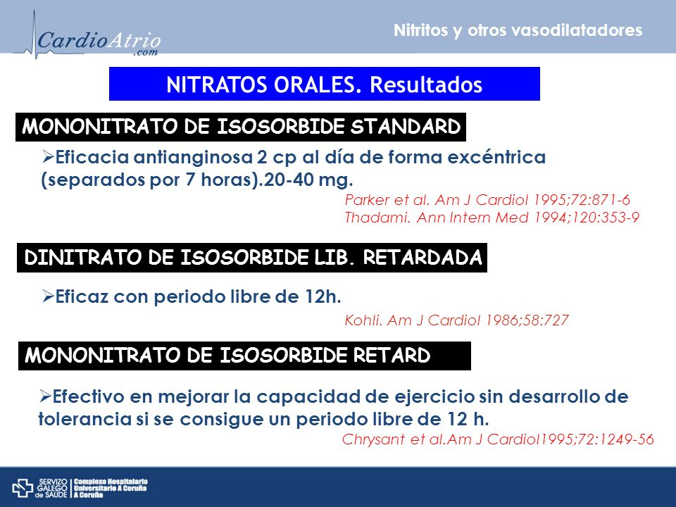 NITRATOS ORALES. Resultados