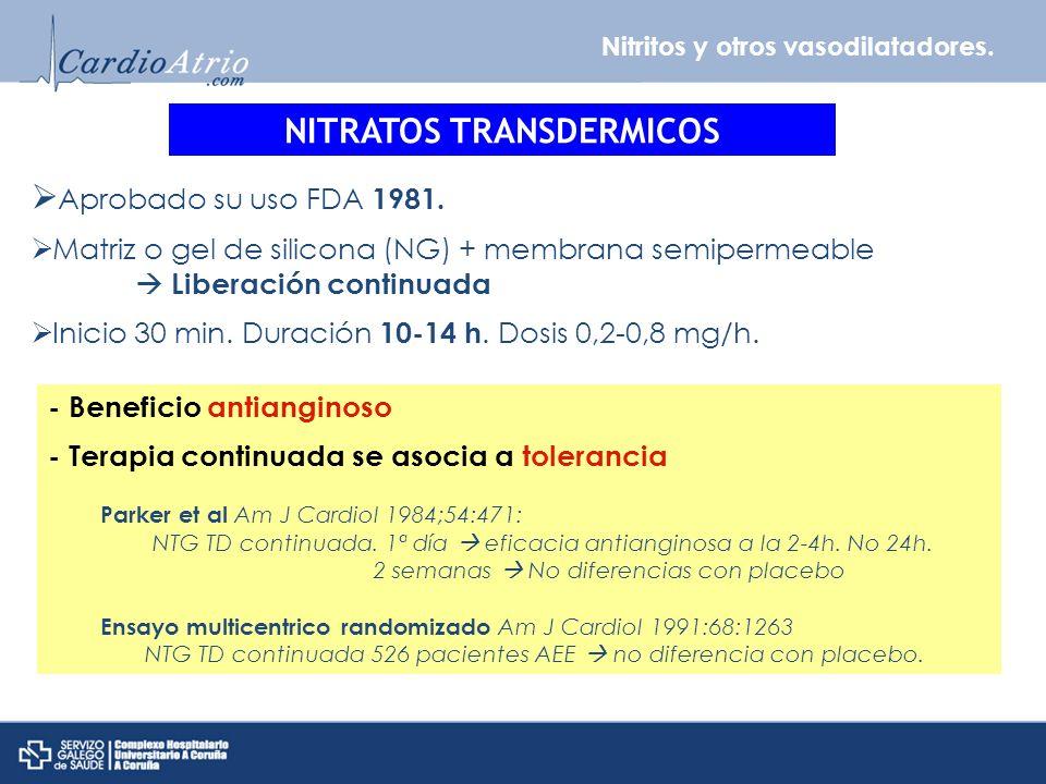 NITRATOS TRANSDERMICOS