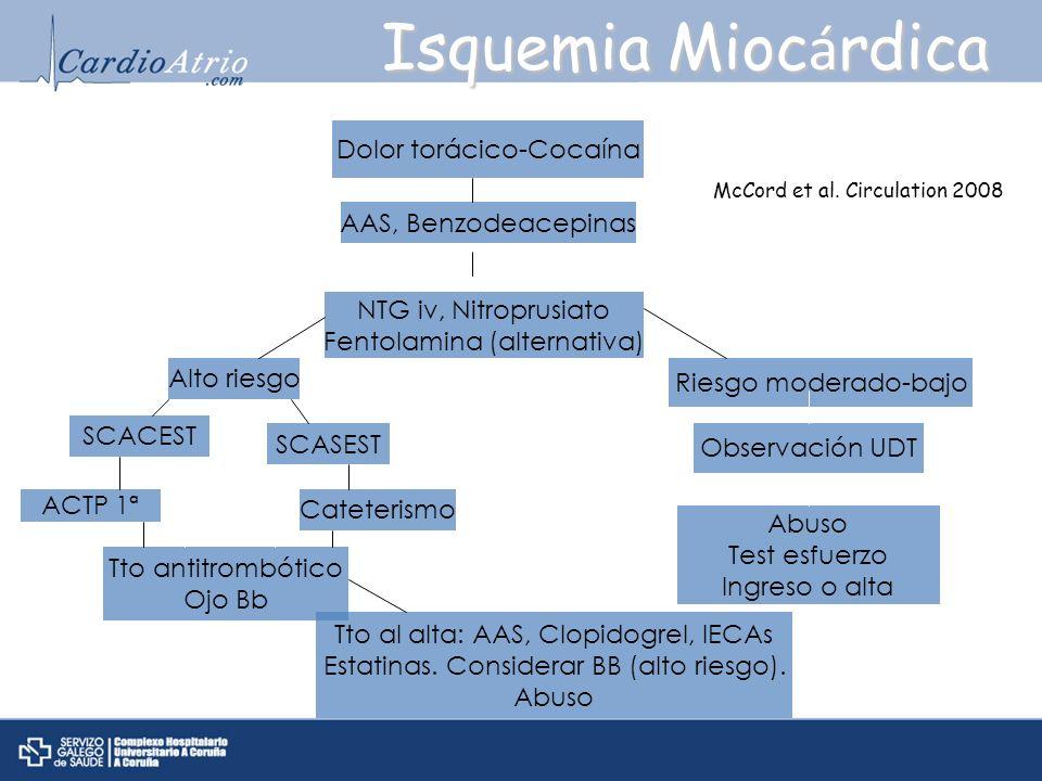 Isquemia Miocárdica Cocaína Dolor torácico-Cocaína
