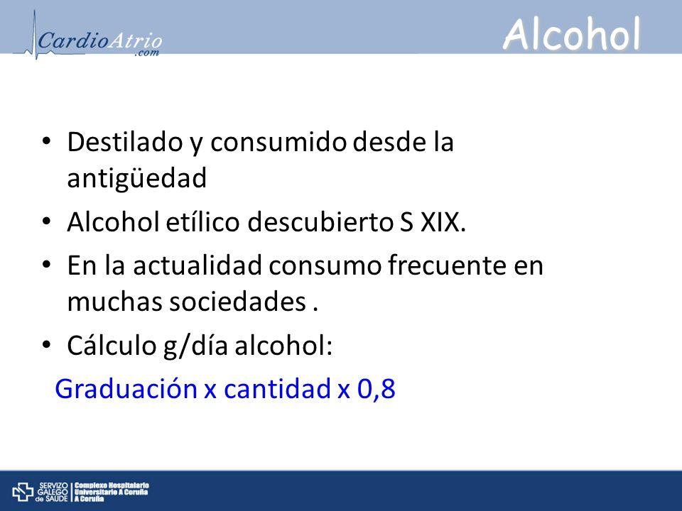 Alcohol Destilado y consumido desde la antigüedad