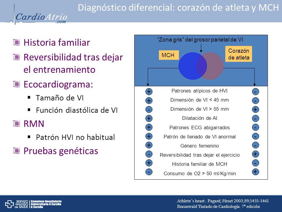 Diagnóstico diferencial: corazón de atleta y MCH