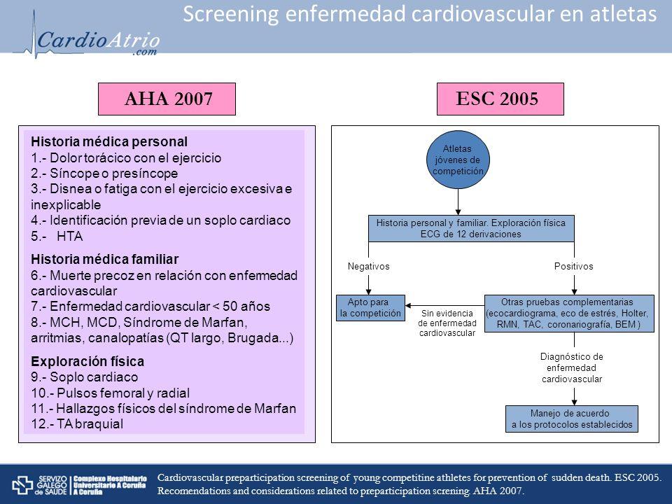 Screening enfermedad cardiovascular en atletas