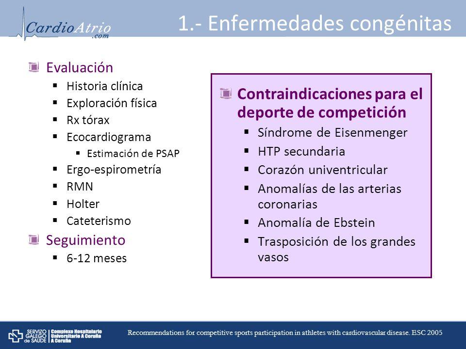 1.- Enfermedades congénitas