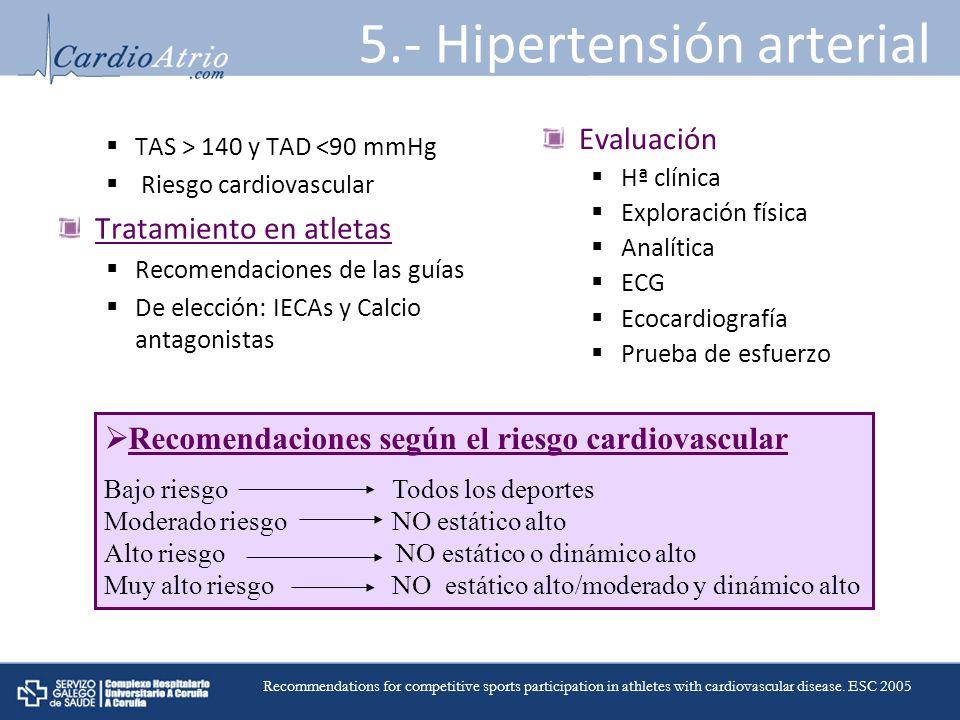 5.- Hipertensión arterial