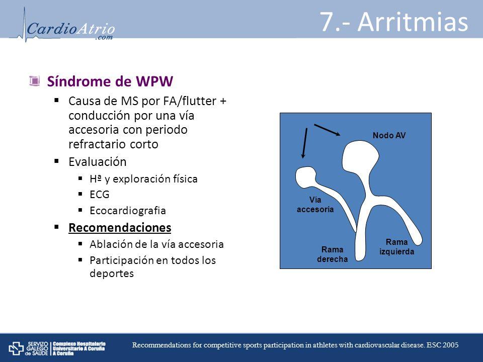 7.- Arritmias Síndrome de WPW