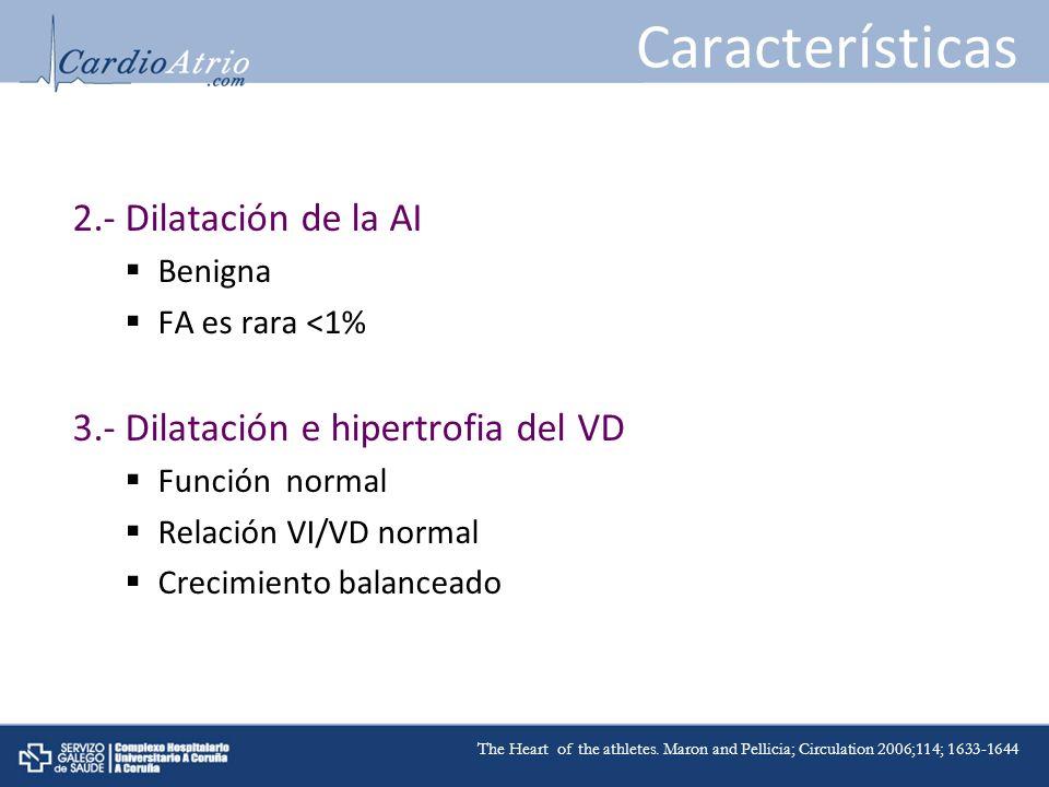 Características 2.- Dilatación de la AI