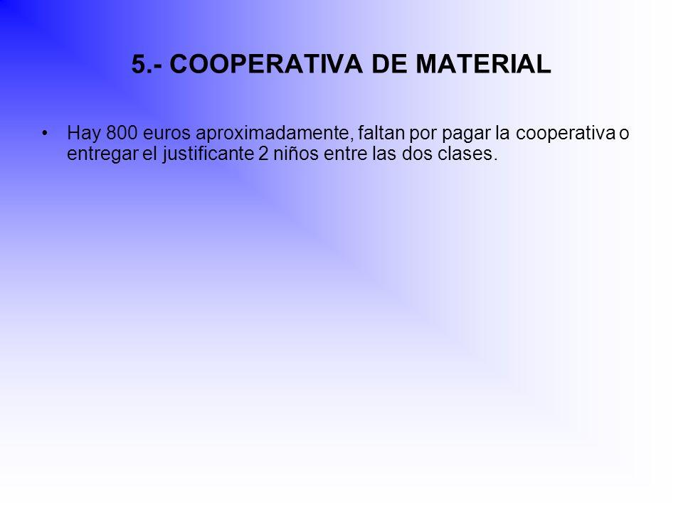 5.- COOPERATIVA DE MATERIAL