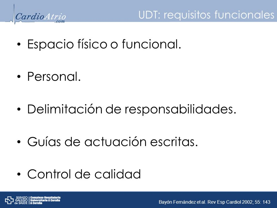 UDT: requisitos funcionales