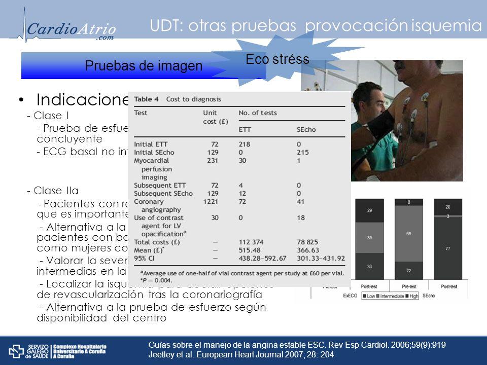 UDT: otras pruebas provocación isquemia