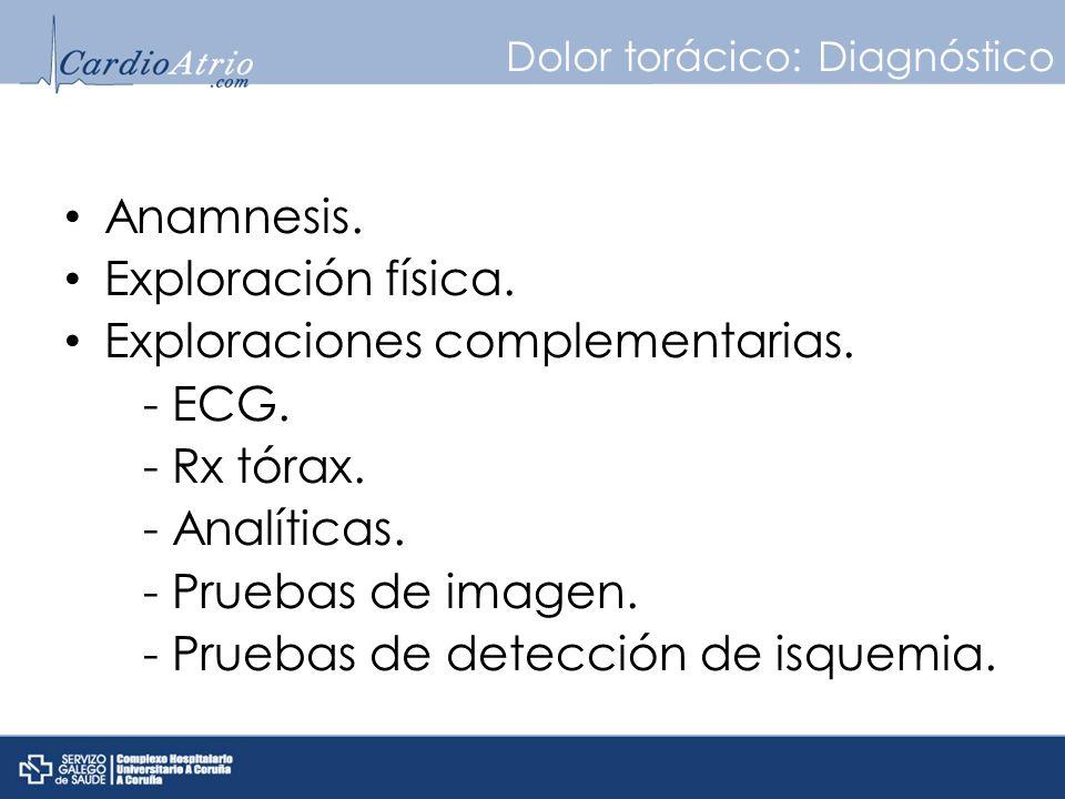 Dolor torácico: Diagnóstico