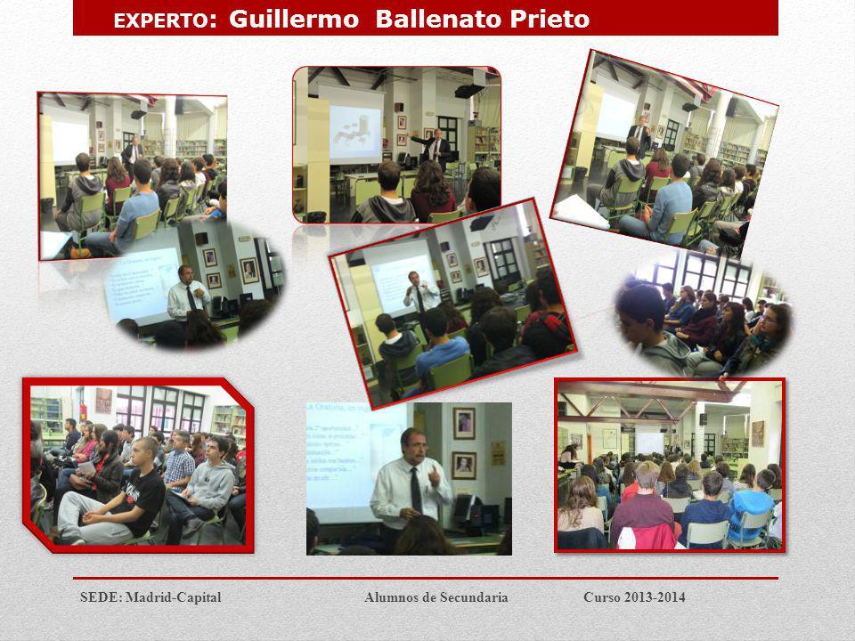 EXPERTO: Guillermo Ballenato Prieto