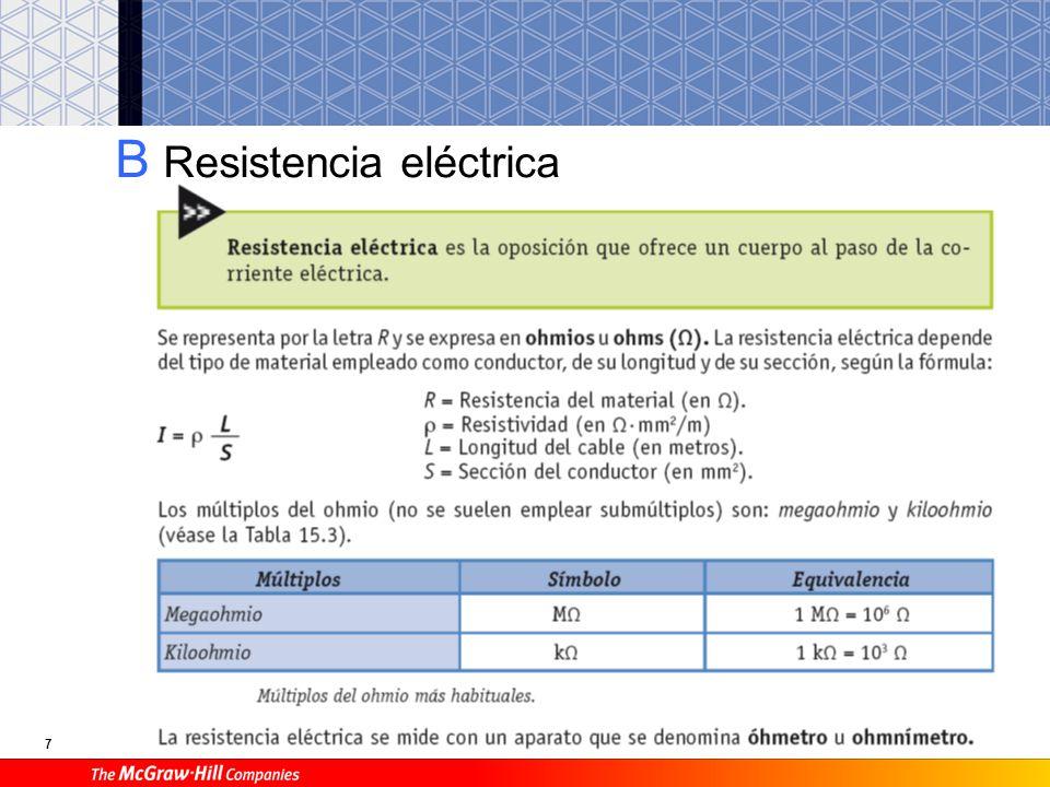 Resistividad de algunos materiales.