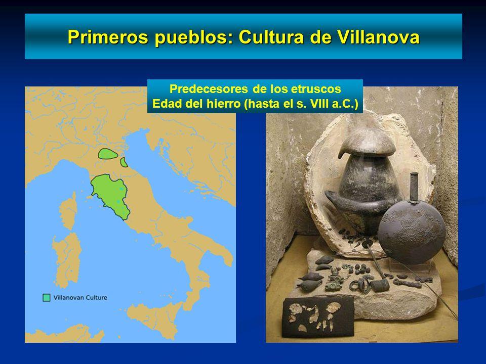 Primeros pueblos: Cultura de Villanova