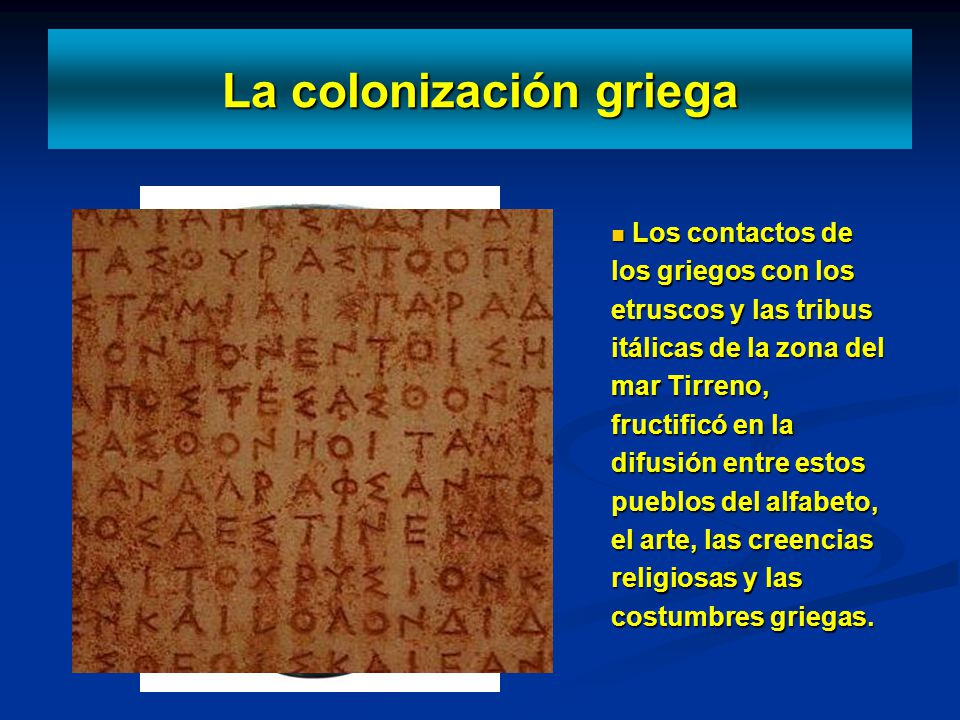 La colonización griega