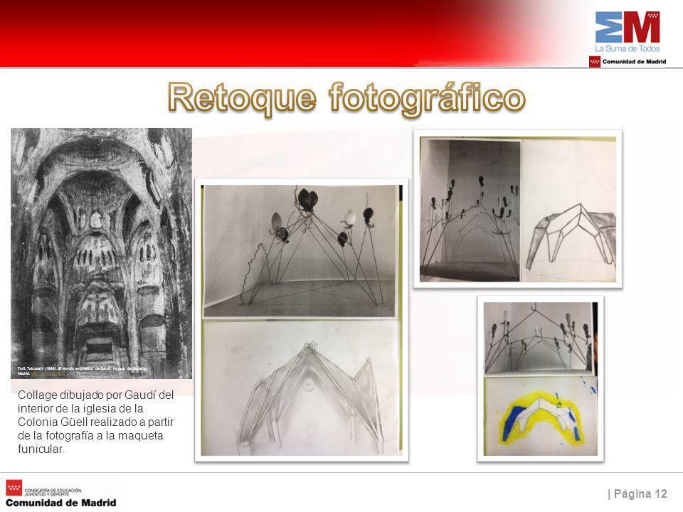 Retoque fotográfico Torii, Tokutoshi (1983). El mundo enigmático de Gaudí. Instituto de España, Madrid. ISBN 84-85559-34-7.
