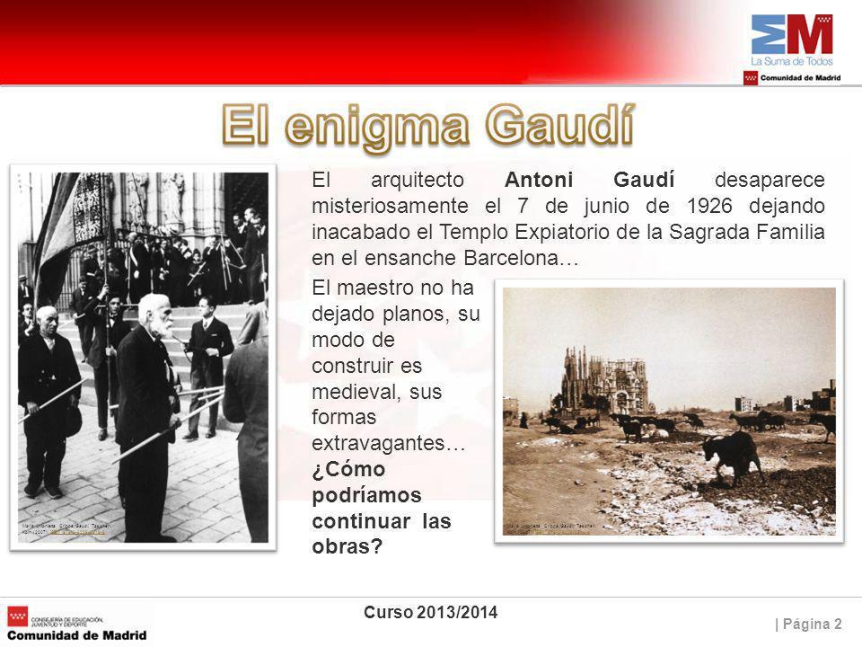 El arquitecto Antoni Gaudí desaparece misteriosamente el 7 de junio de 1926 dejando inacabado el Templo Expiatorio de la Sagrada Familia en el ensanche Barcelona…