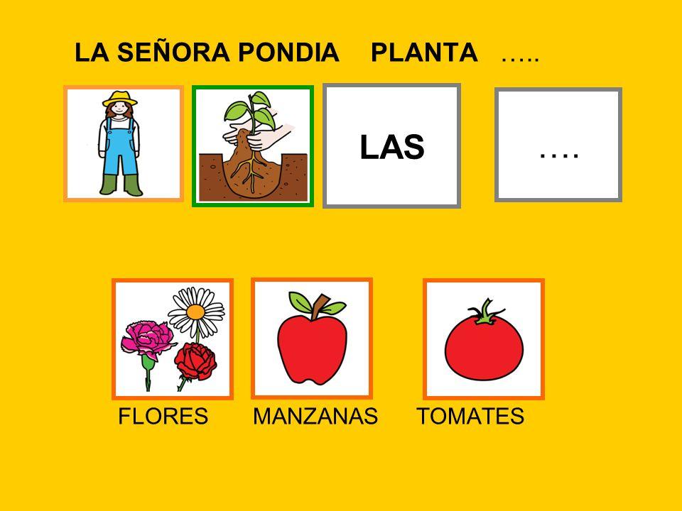 LA SEÑORA PONDIA PLANTA …..