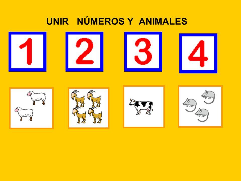 UNIR NÚMEROS Y ANIMALES