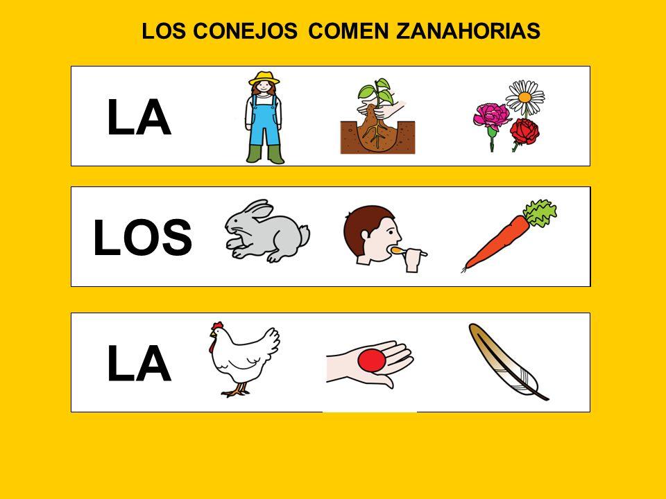 LOS CONEJOS COMEN ZANAHORIAS