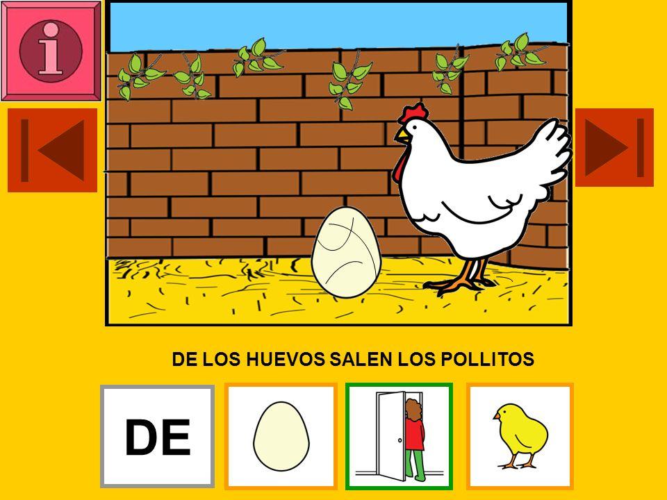 DE LOS HUEVOS SALEN LOS POLLITOS