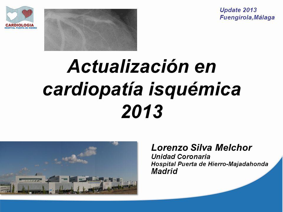 Actualización en cardiopatía isquémica 2013
