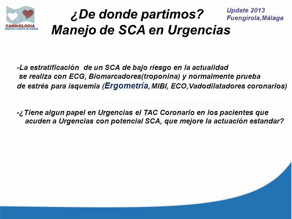 Manejo de SCA en Urgencias