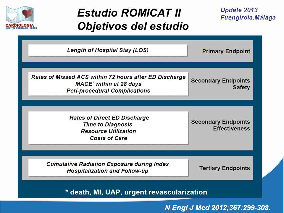 Objetivos del estudio Estudio ROMICAT II