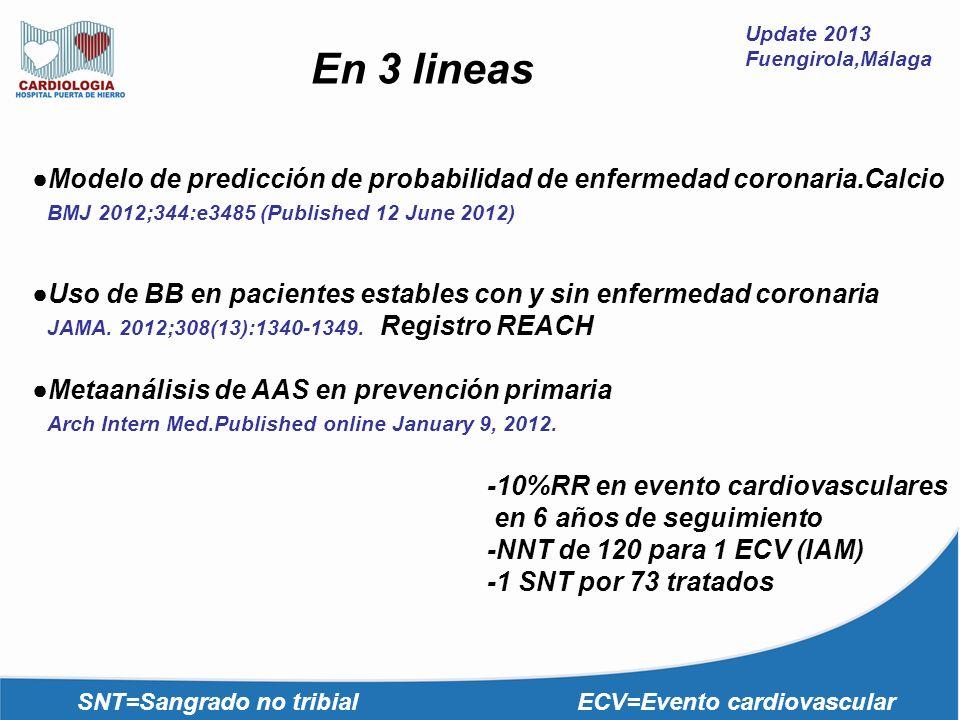 Update 2013 Fuengirola,Málaga. En 3 lineas. ●Modelo de predicción de probabilidad de enfermedad coronaria.Calcio.