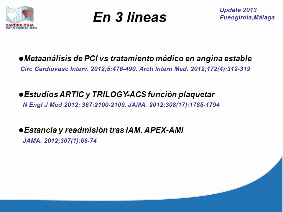 ●Metaanálisis de PCI vs tratamiento médico en angina estable