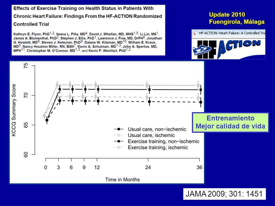 Entrenamiento Mejor calidad de vida JAMA 2009; 301: 1451