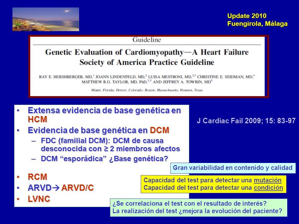 Extensa evidencia de base genética en HCM