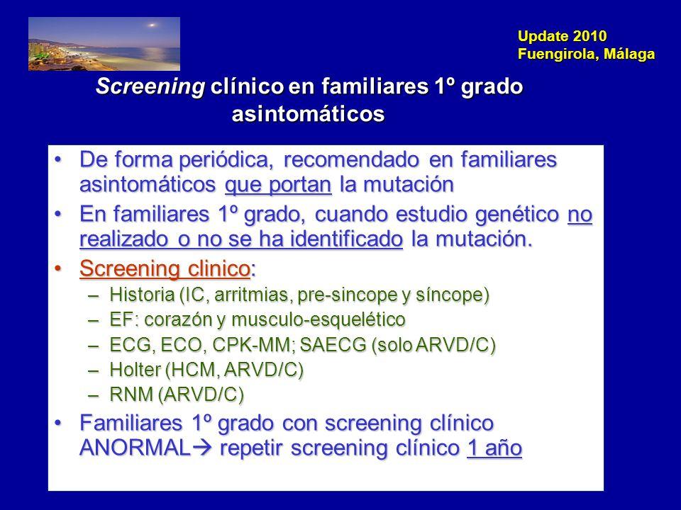Screening clínico en familiares 1º grado asintomáticos