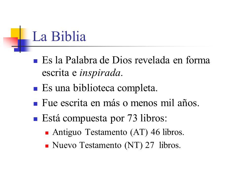 La Biblia Es la Palabra de Dios revelada en forma escrita e inspirada.