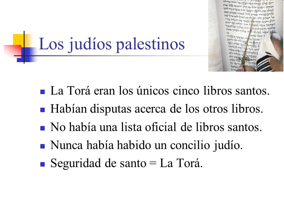 Los judíos palestinos La Torá eran los únicos cinco libros santos.